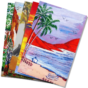 Hand Painted Cards Web Product