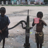 kids at well