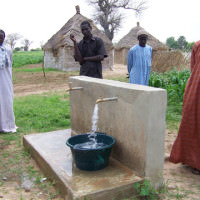 water for a family in africa