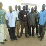 GHCO Garu Center TTI Students with their leader Gideon far right.Feb 2015