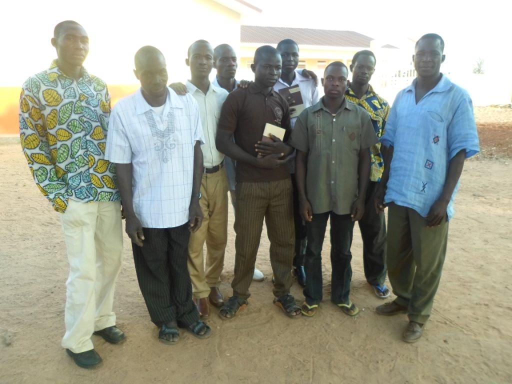 GHCO-Garu Center TTI Students with their leader Gideon-far right.Feb 2015