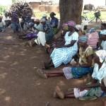 GHCO Rene Mbongo visits accused women in Guchegu village July 2014