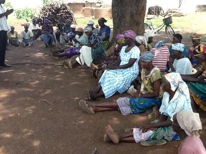 GHCO-Rene Mbongo visits accused women in Guchegu village July 2014