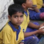 INCO-lunchtime in slum area in Delhi.April 2015