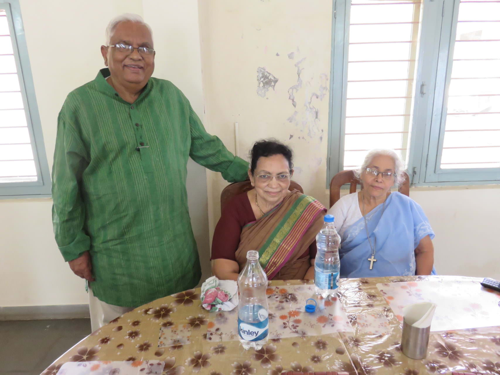 INVI-Dr. Viji, Mary, Sister Rachel.April 2015