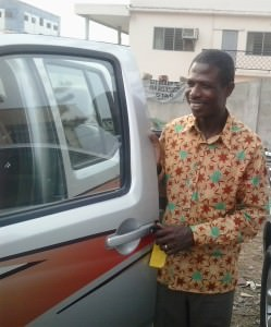 Emmanuel with the new Nissan