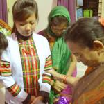INVI Mary Vijayam praying for IWILL Master Trainers 2012
