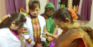 INVI-Mary Vijayam praying for IWILL Master Trainers
