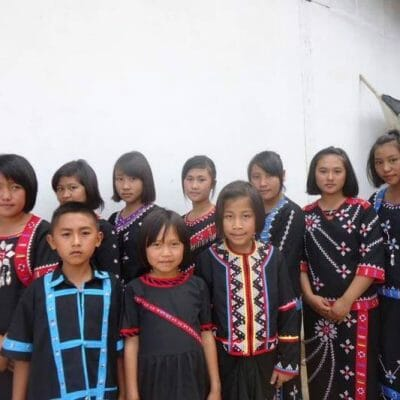 THCN sac kids in tribal clothing 2013