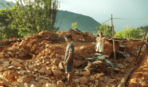 Areas of Nepal remain devastated after the earthquake a year ago.