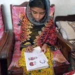 PATS 16 yr old Sania in literacy class.Sept 2017