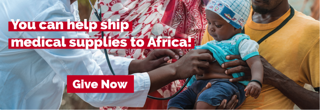 Help ship medical supplies to Africa