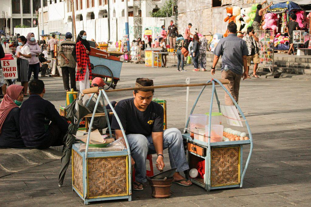 street vendor selling food